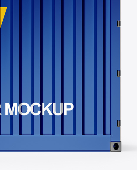 Shipping Container Mockup - Side View