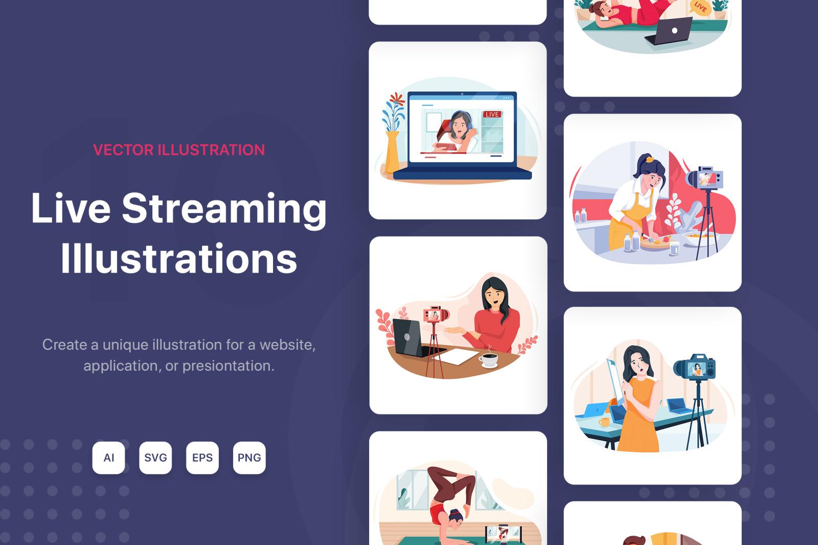 M142_Live Streaming Illustrations