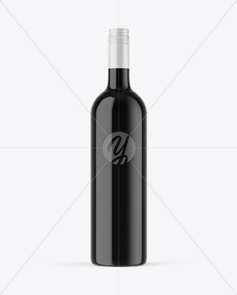 Dark Glass Wine Bottle Mockup