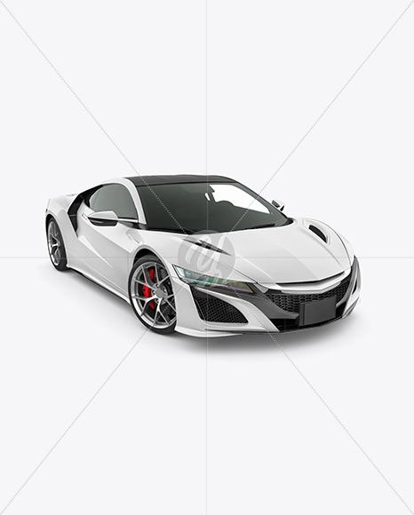Sport Car Mockup - Half Side View (high-angle shot) - Yellowimages Mockups