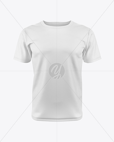 Download Men S T Shirt Mockup Front View In Apparel Mockups On Yellow Images Object Mockups PSD Mockup Templates