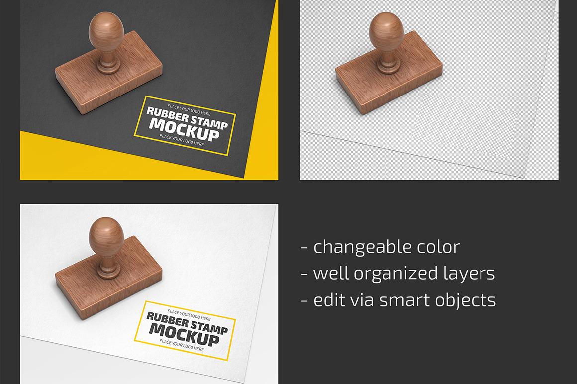 Rubber Stamp Mockup Set