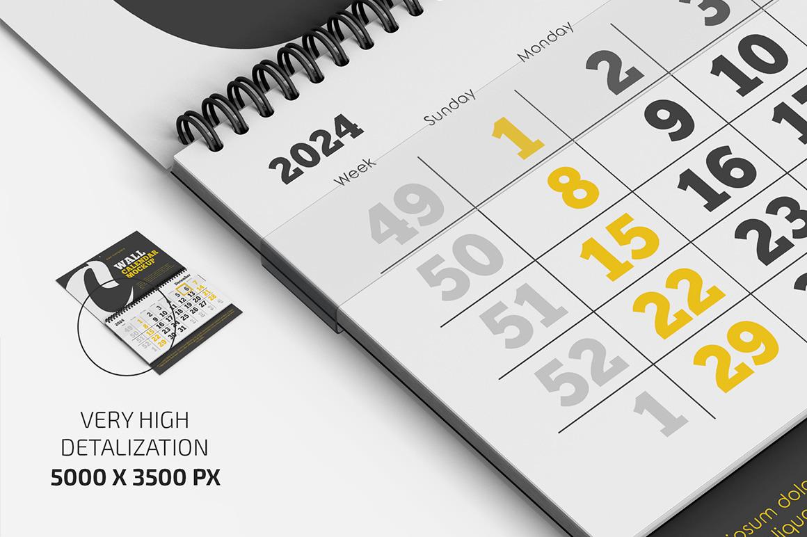 Wall Calendar v02 Mockup Set