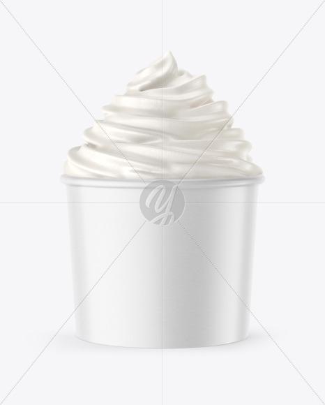Ice Cream Paper Cup Mockup