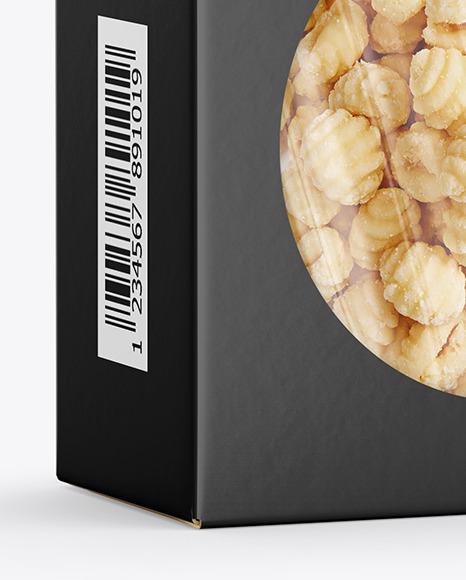 Paper Box with Gnocchi Mockup