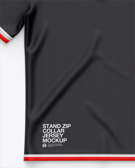 Stand Zip Collar Polo Shirt / Dart Shirt- Top View - Sublimated Polo Shirt