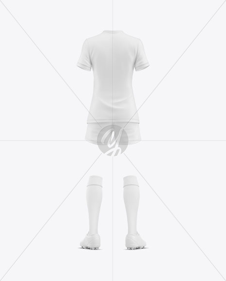 Women's Football Kit Mockup - Back View