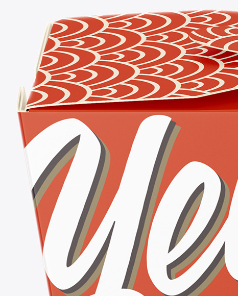 Download Matte Paper Noodles Box Mockup Front View High Angle Shot In Box Mockups On Yellow Images Object Mockups