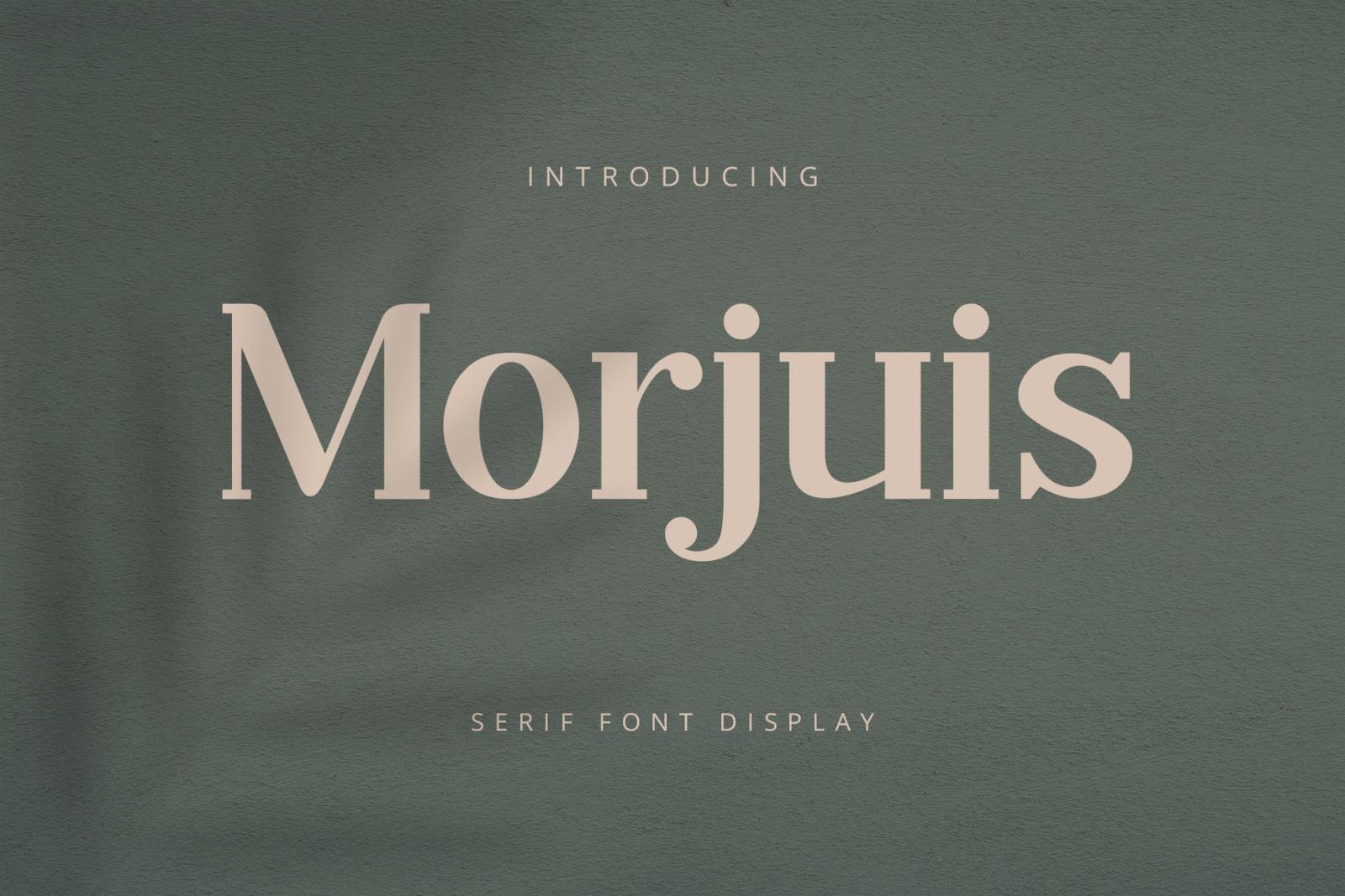 Morjuis Serif Font