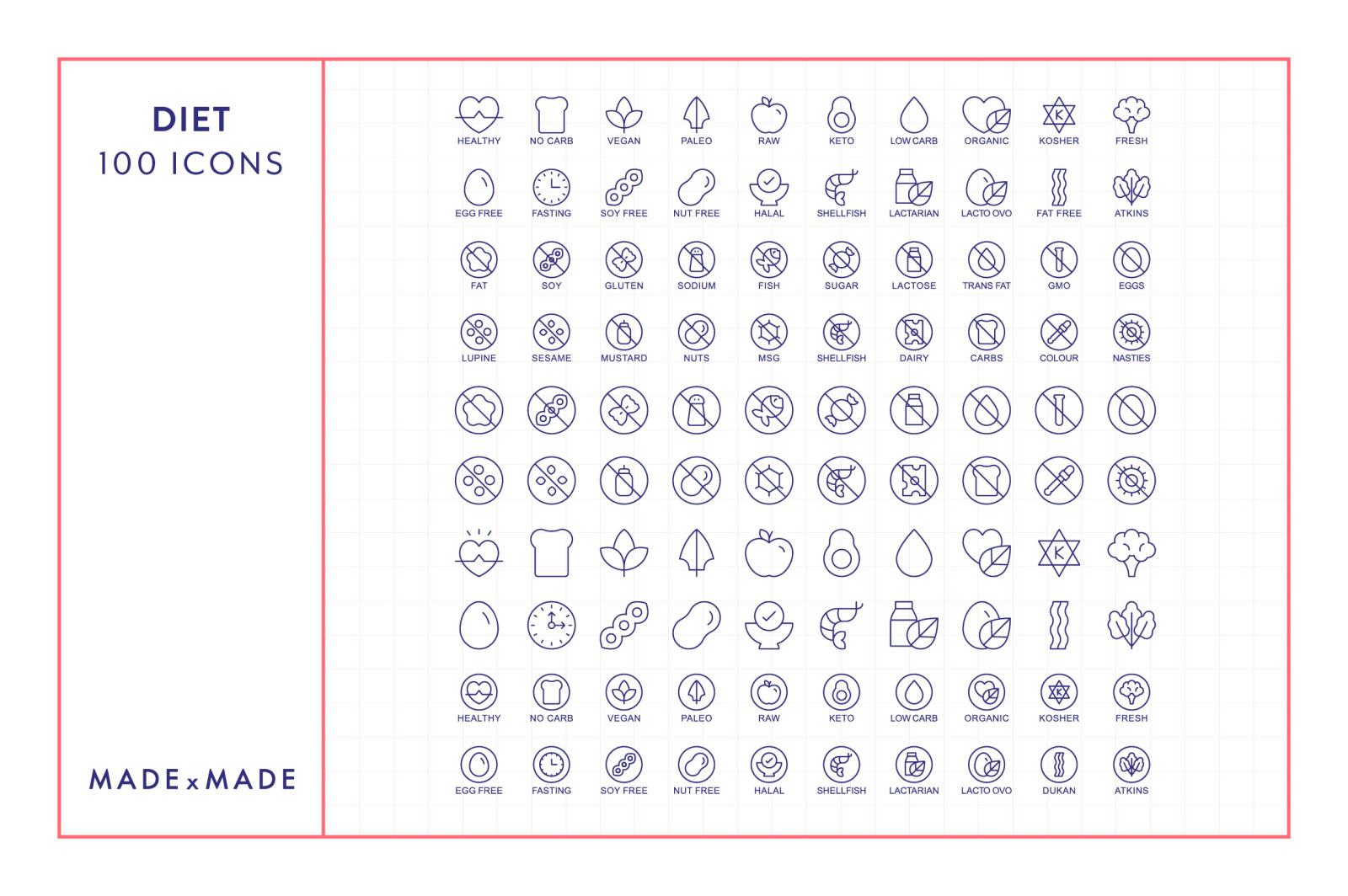 Line Icons – Diet