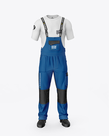Summer Overalls Mockup – Front View