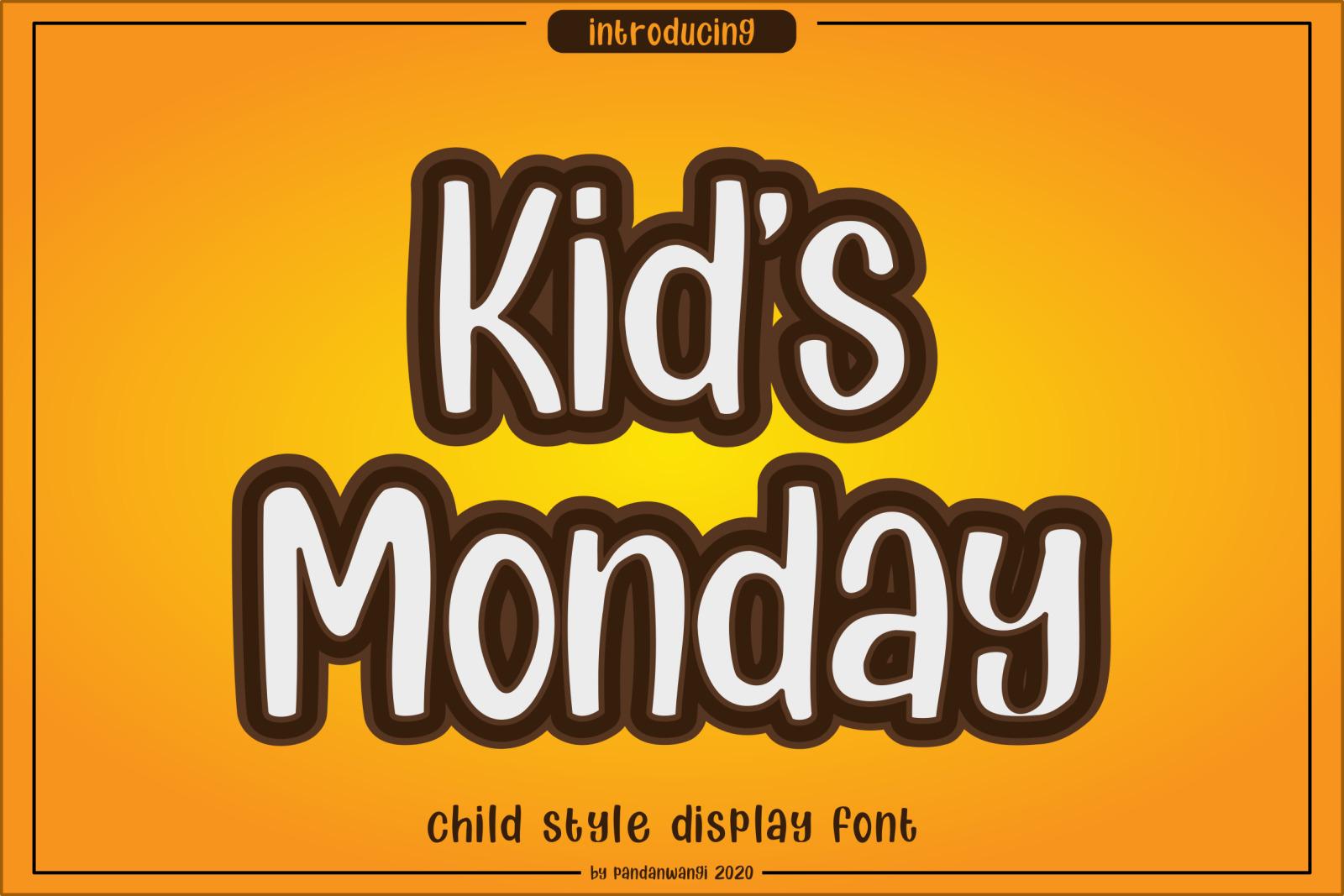 Kids Monday Font