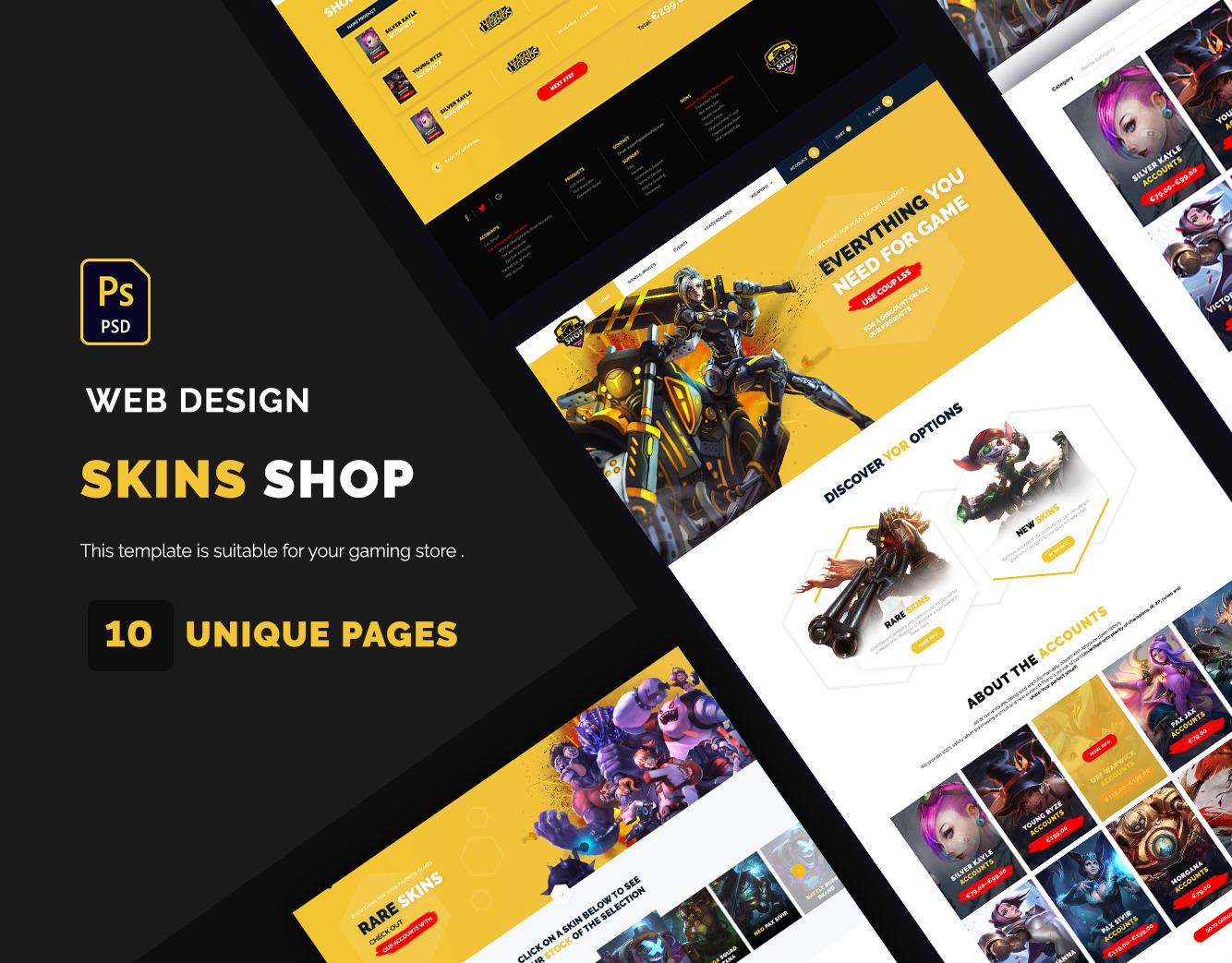 Game & Skin UI Kit