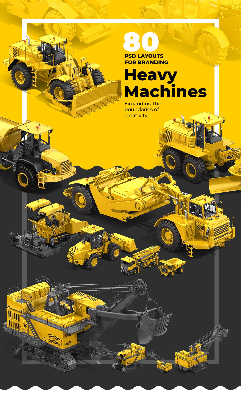 PSD Heavy Machines Mockup 360 PRO #01