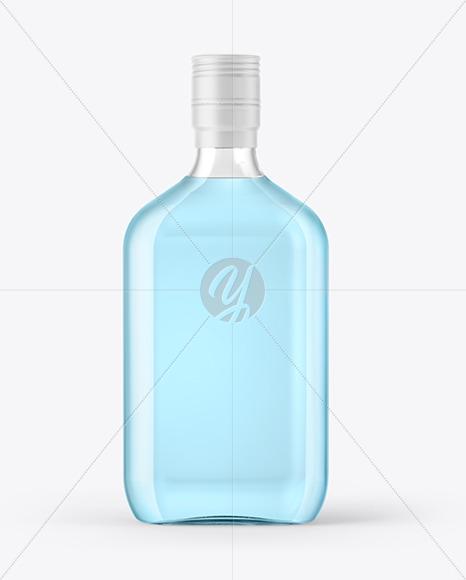 Glass Gin Bottle Mockup