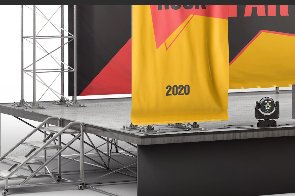 Stage Advertising Banners Mockup