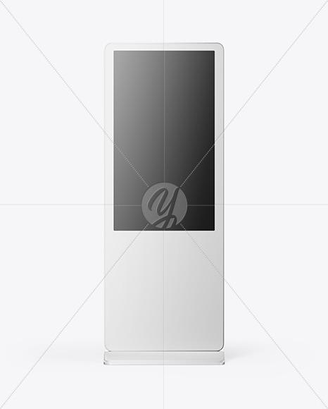 LCD Digital Signage Mockup Front View