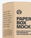 Glossy Dropper Bottle with Kraft Paper Box Mockup
