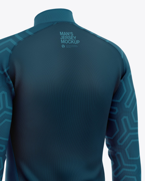 Men's Jersey With Long Sleeve Mockup