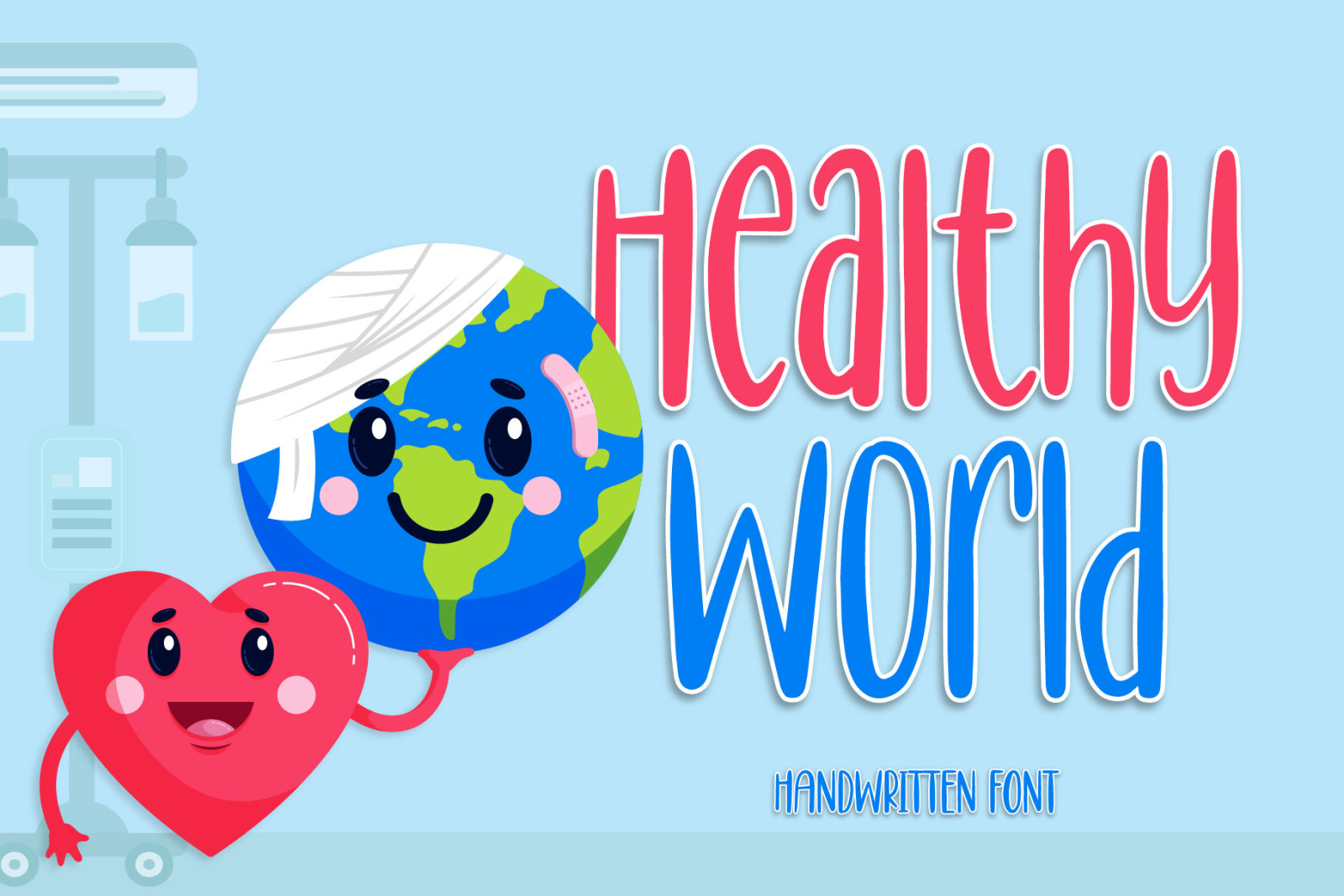 Healthy World - Cute Handwritten Font