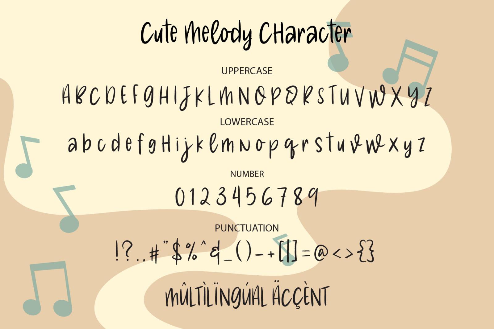Cute Melody - a Cute Handwritten  Font