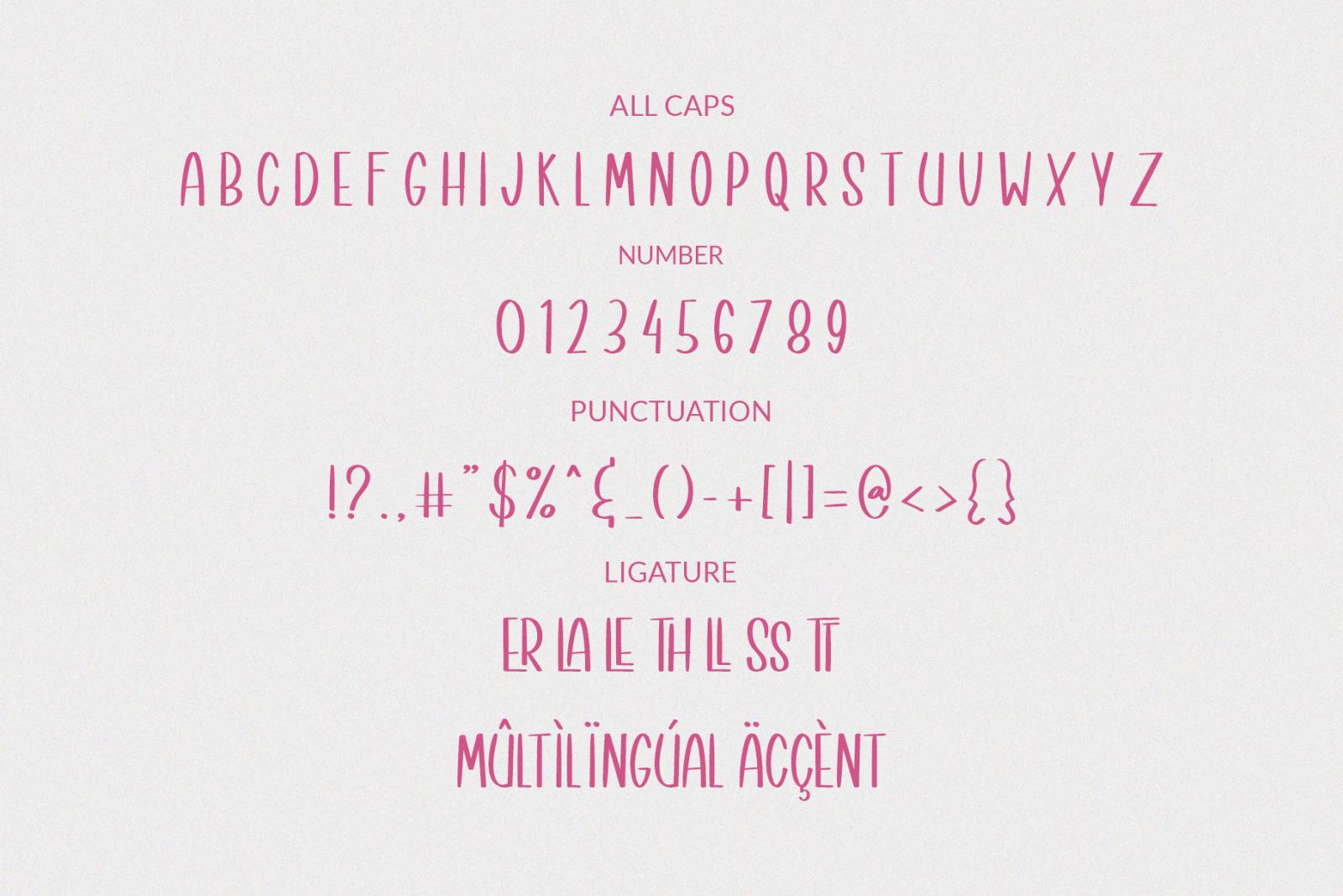 Better Unicorn - a Bouncy Handwritten Font