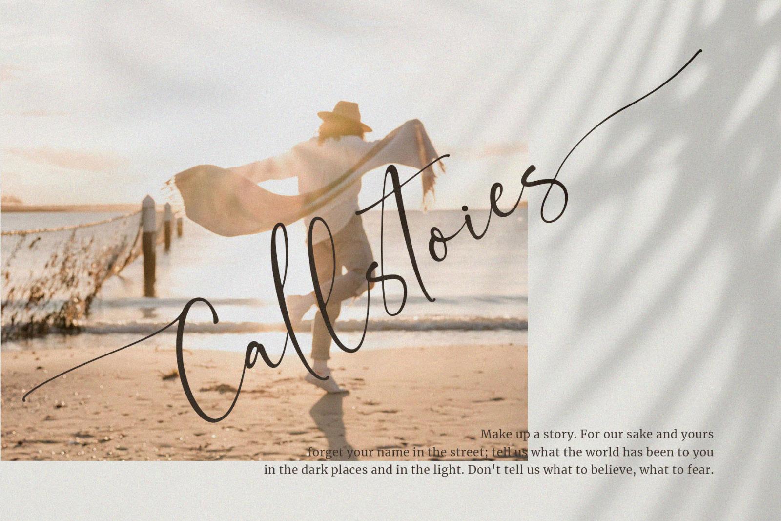 Callstories // Classy Signature Font