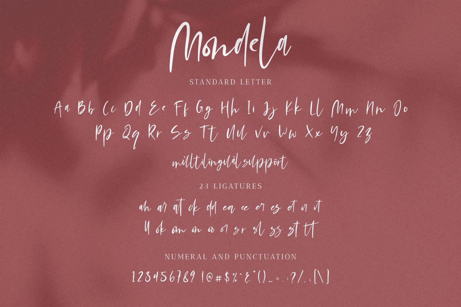 Mondela || Casual Handwritten Font