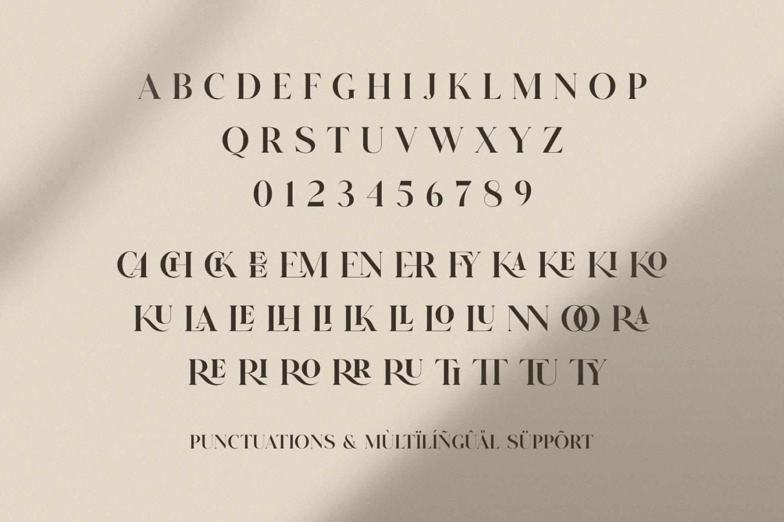 GLITTEN - All Caps Ligature Serif