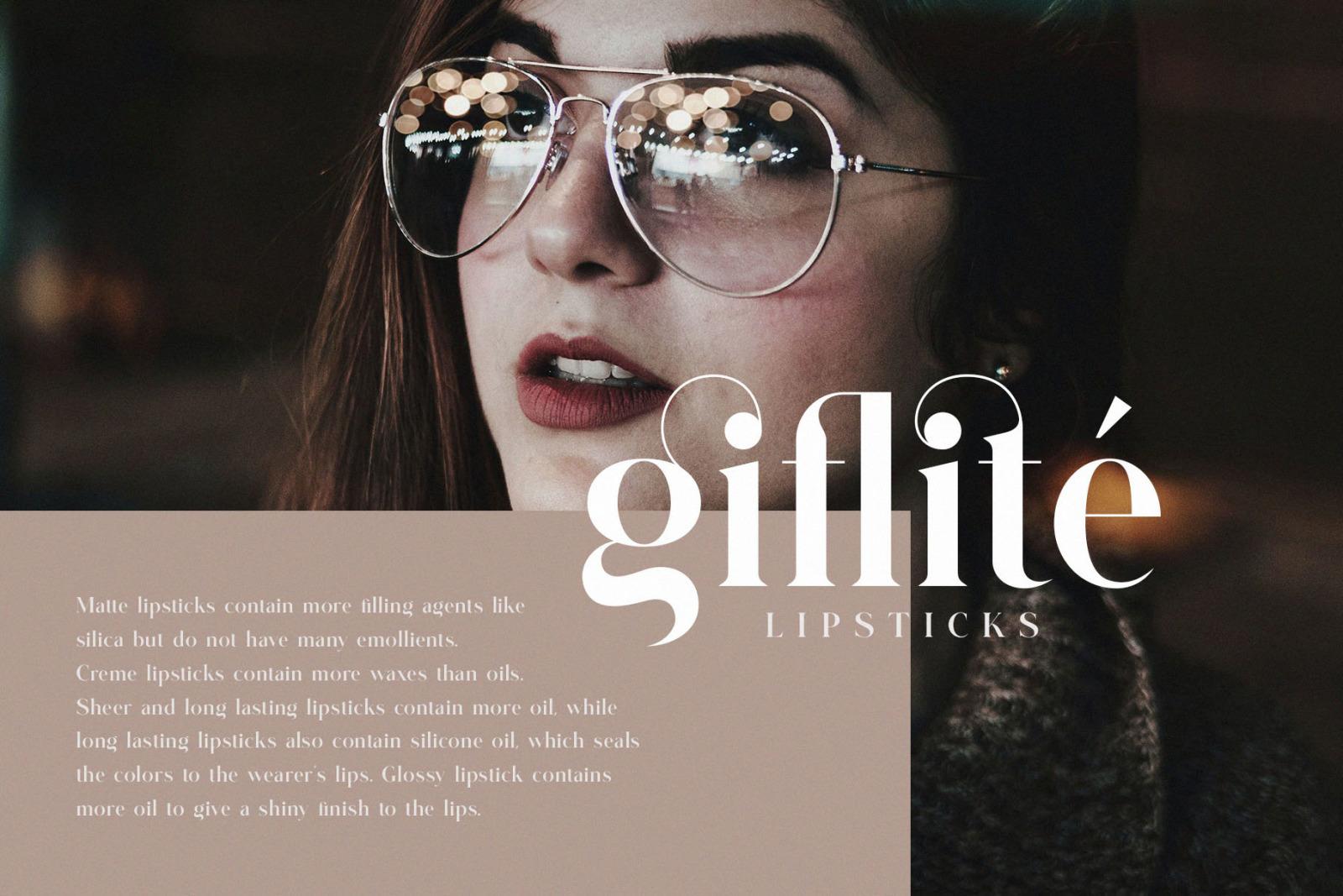 Glitten || Ligature Serif Font