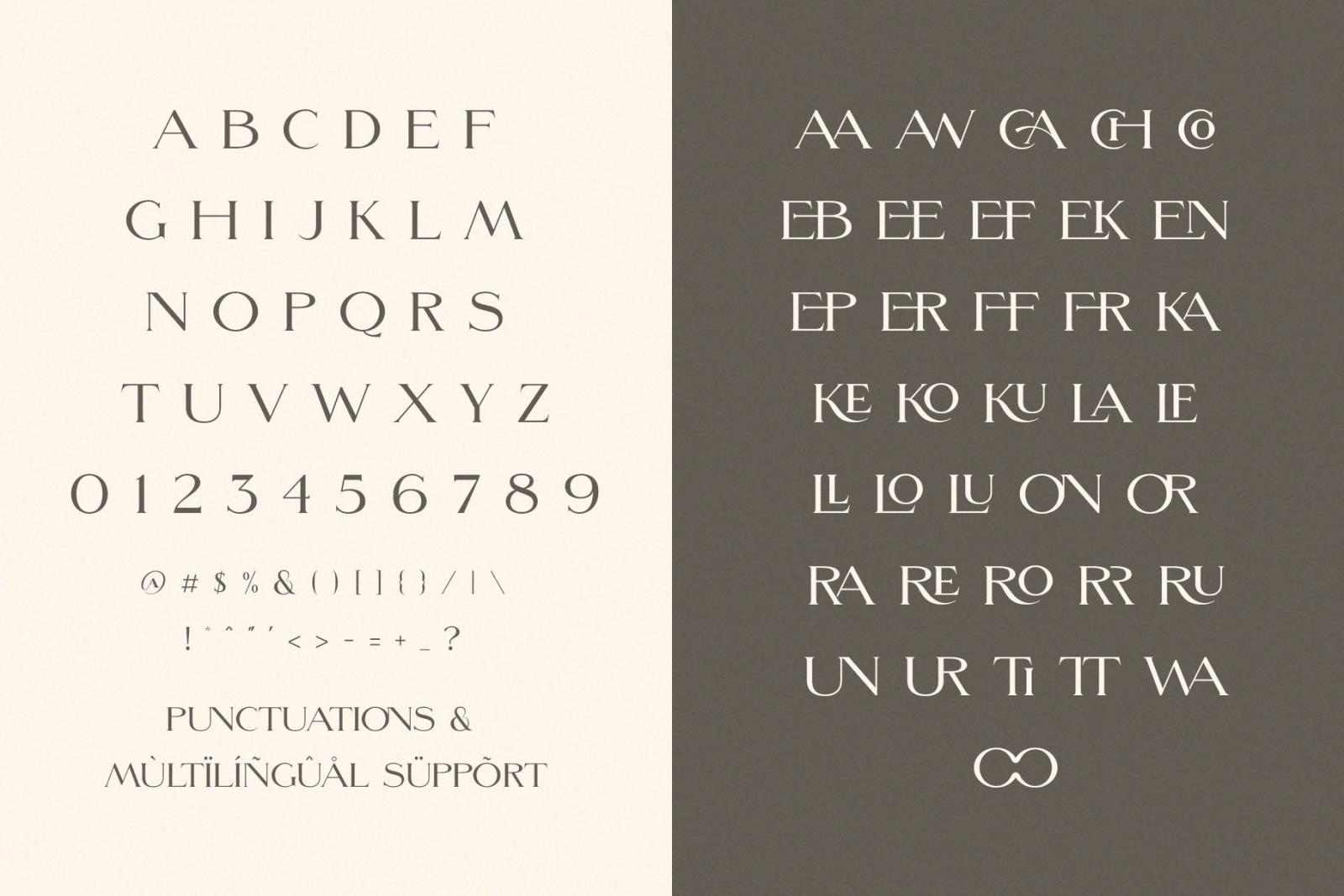 Morefren - Serif Ligature Font