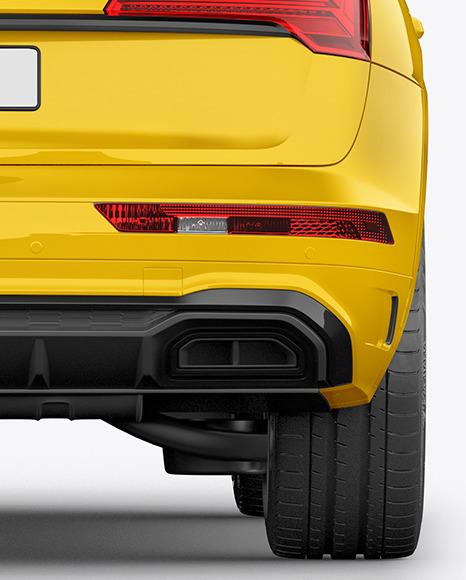 Crossover SUV Mockup – Back View