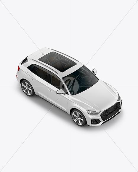 Crossover SUV Mockup – HalfSide View (High-Angle Shot)