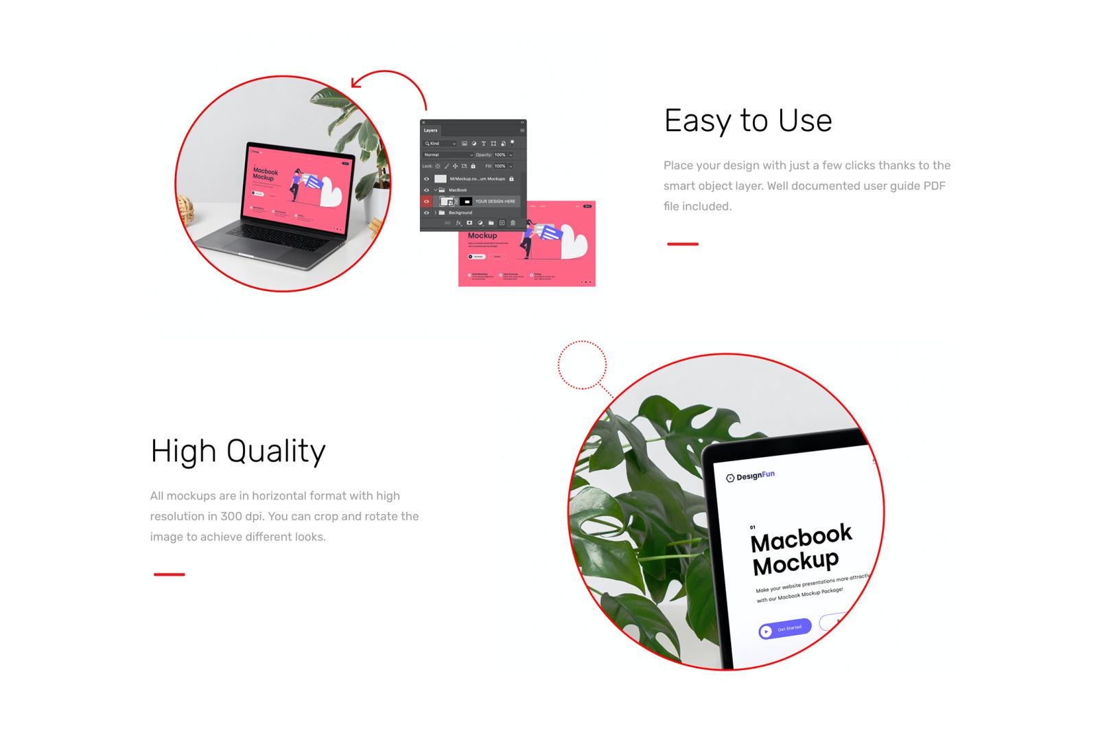 Macbook Pro Mockups - Workspace Mockup