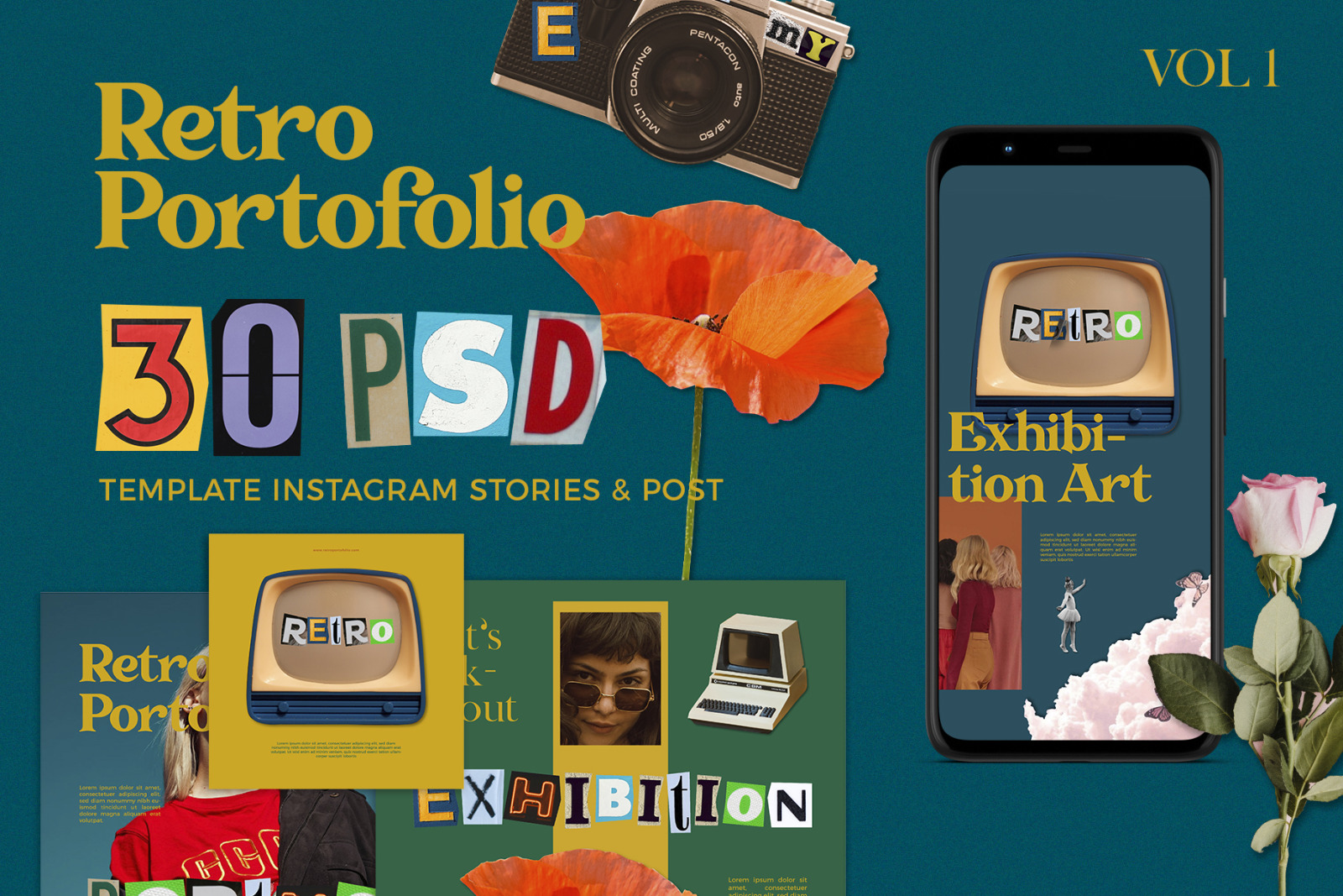 Retro Porto Instagram Post Stories