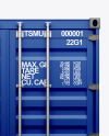 Shipping Container Mockup - Front View