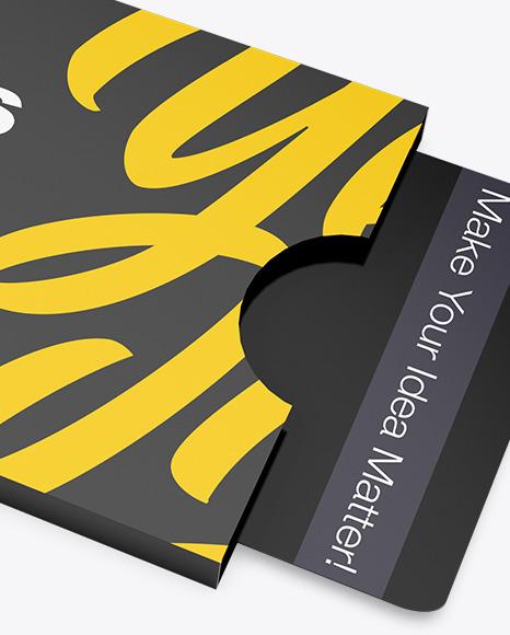 Card Holder Mockup - Halfside View