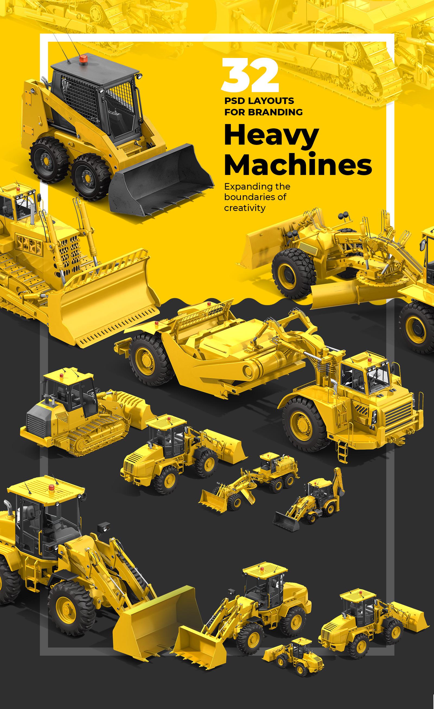 PSD Heavy Machines Mockup 360 PRO #02