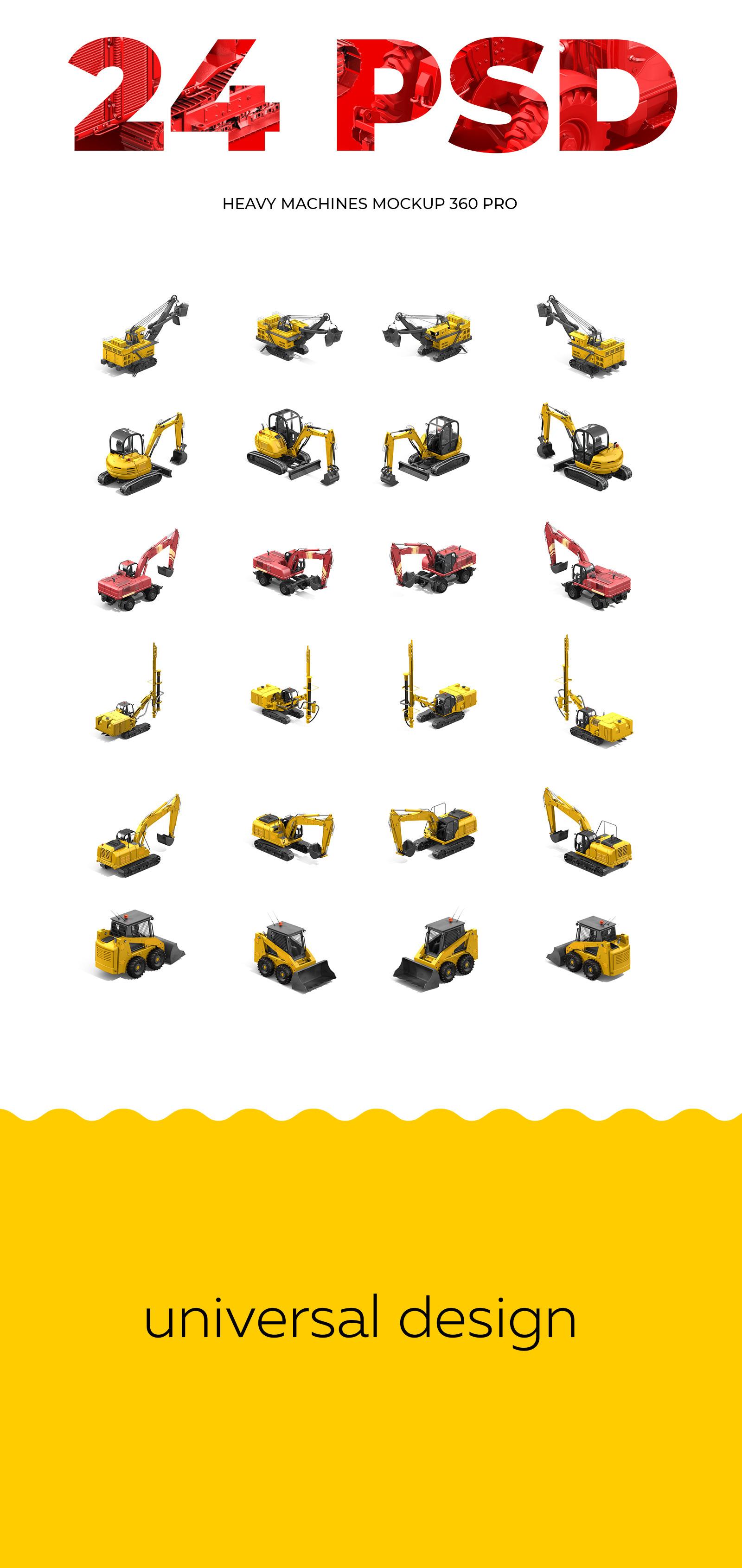 PSD Heavy Machines Mockup 360 PRO #03