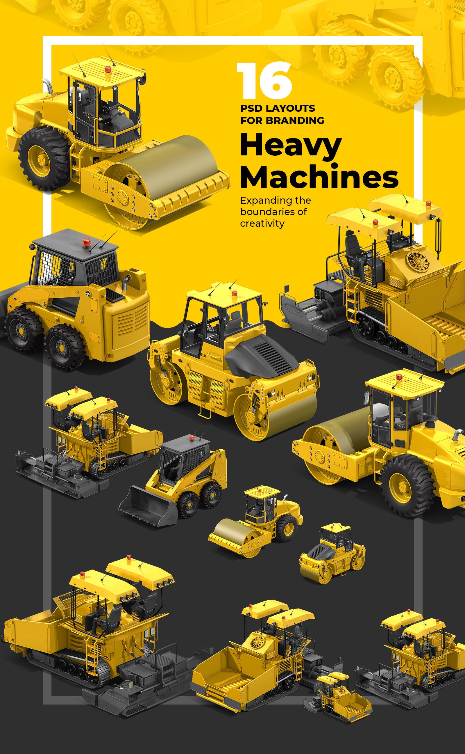 PSD Heavy Machines Mockup 360 PRO #05