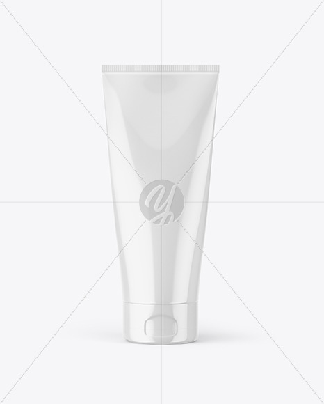 Glossy Cream Tube Mockup
