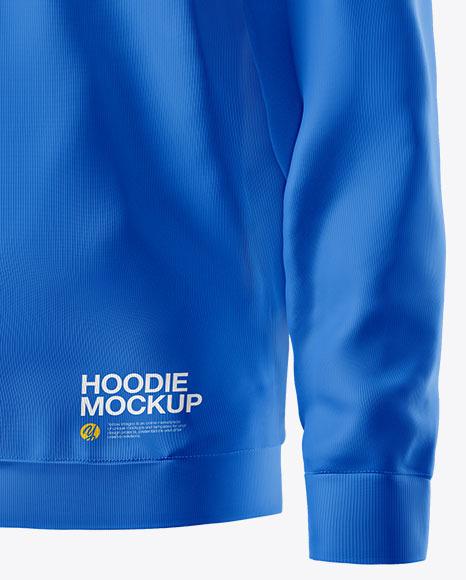 Hoodie Mockup - Half Side View