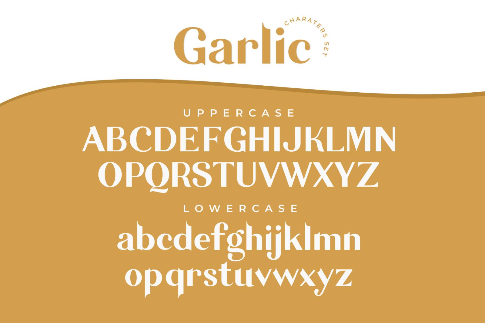 Garlic / Elegant Font