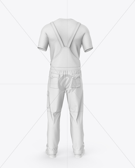 Summer Overalls Mockup – Back View
