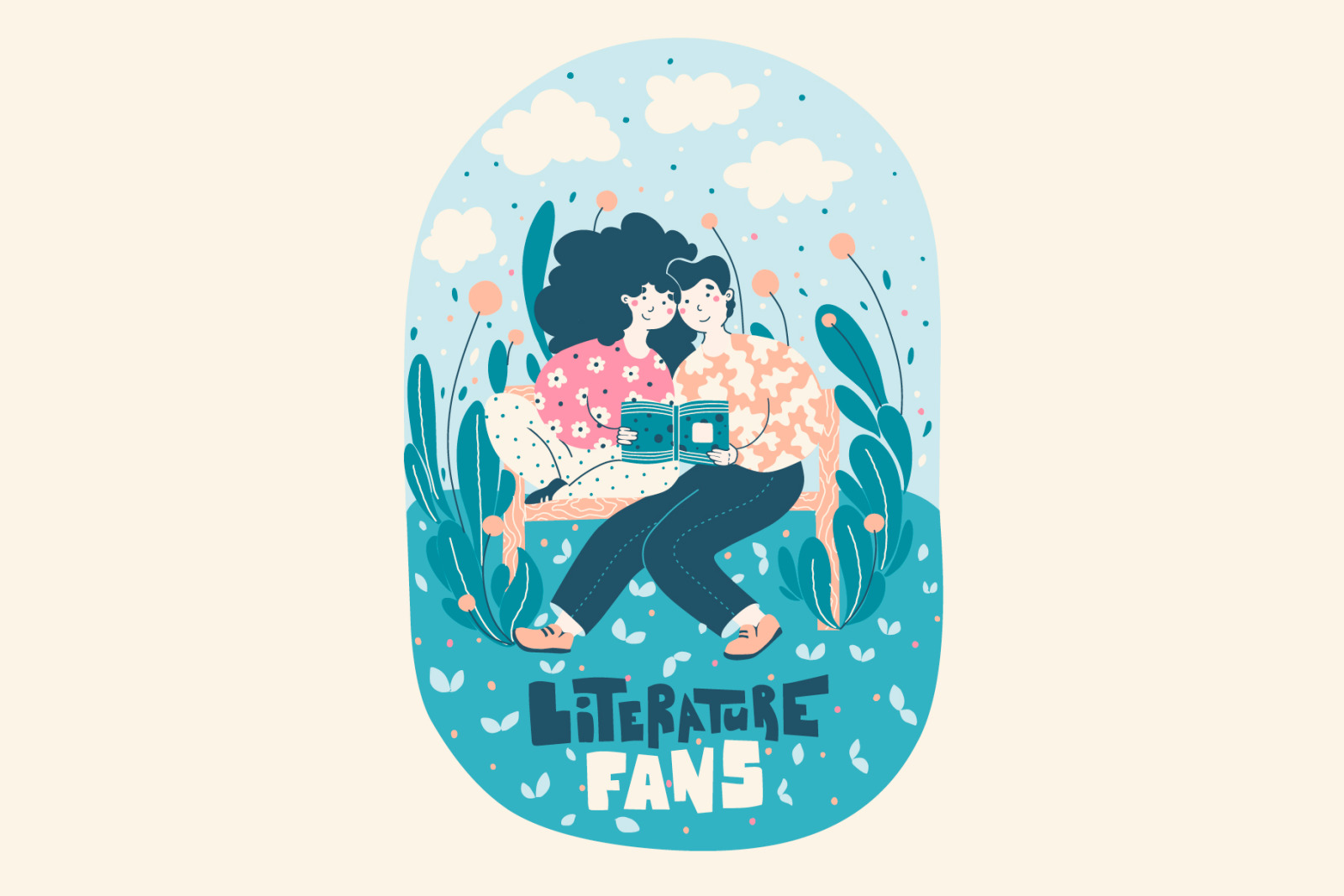 Literature Fans - cute illustration