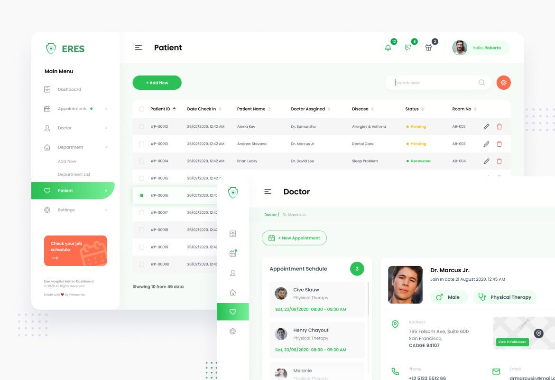 Hospital Admin Dashboard UI Figma an PSD Template