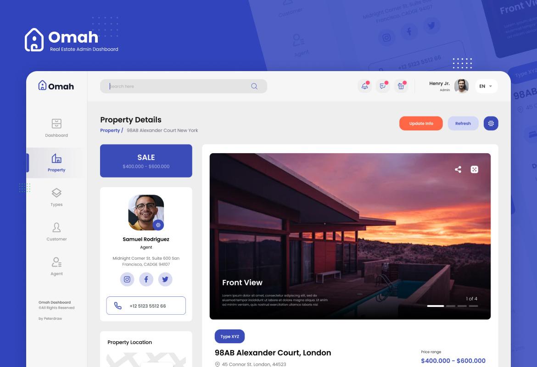 Real Estate Admin Dashboard UI Template