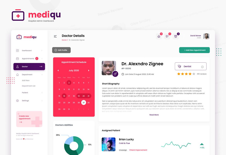 Mediqu - Hospital Admin Dashboard UI Template