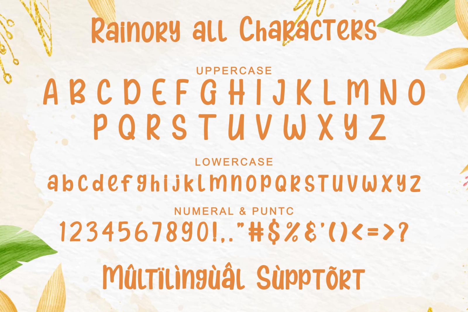 Rainory Font