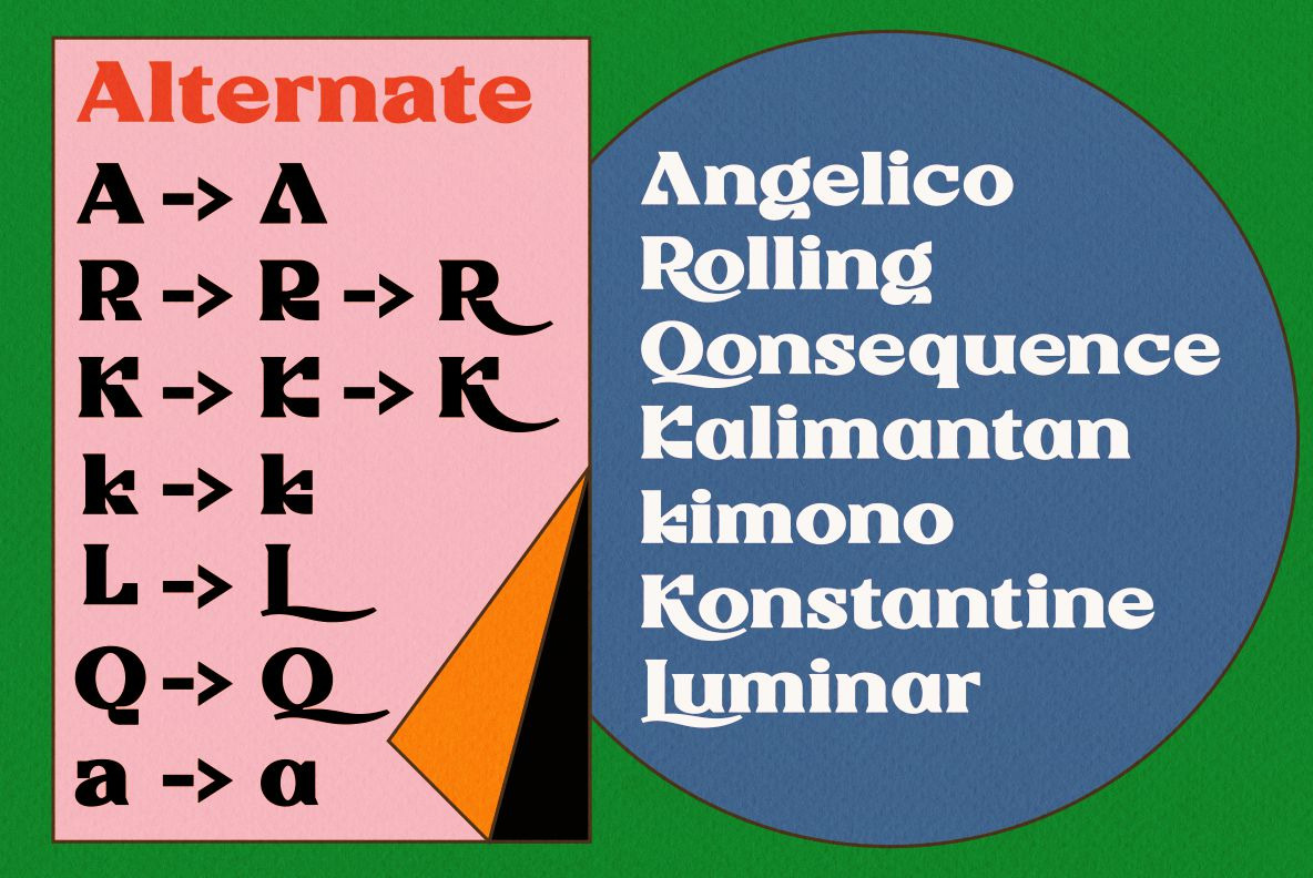 Rigeko - Unique Retro Display Font